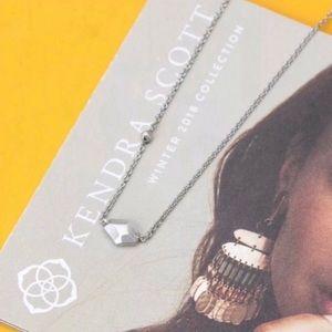 Kendra Scott NWOT Silver Laureen Pendant Necklace